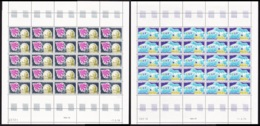 FSAT TAAF Space Satellite Research 2 Full Sheets MNH SG#128-129 CV£190+ - French Southern And Antarctic Territories (TAAF)