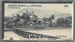S9  LA REUNION SAINTE MARIE 10,5 X 6,5cm TRADECARD CHOCOLATE Colonies Afrique - Vieux Papiers