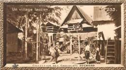 S9  LAOS  Village Pilotis  10,5 X 6,5cm TRADECARD CHOCOLATE Colonies Asie - Vieux Papiers
