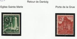 Allemagne N° 652 Et 653 Oblitérés De 1939 - Deutschland