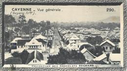 S9  GUYANE  CAYENNE 10,5 X 6,5cm TRADECARD CHOCOLATE Colonies - Vieux Papiers