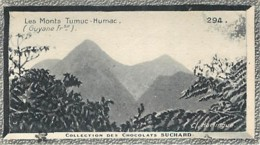 S9  GUYANE CAYENNE Monts Tumuc Humac 10,5 X 6,5cm TRADECARD CHOCOLATE Colonies - Vieux Papiers
