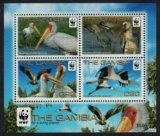 Gambia Birds WWF Yellow-billed Stork MS RAR MNH - Gambia (1965-...)