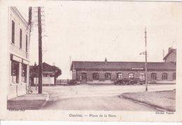 ( 80 ) - Chaulnes Place De La Gare  Carte  Allemande - Chaulnes