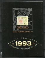 Estland Estonia 1993 Year Set In Special Folder - Estland