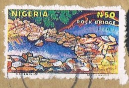 1990 -  NIGERIA - PONTE DI ROCCIA / ROCK BRIDGE - USATO / USED. - Nigeria (1961-...)