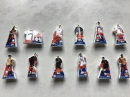 Rare Série Complète 12 Fèves Brillantes FOOTBALL équipe OL Olympique Lyonnais / LYON 2008 - Sport