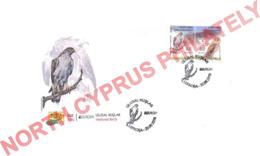 "2019 TURKISH CYPRUS ZYPERN CHYPRE CIPRO "" Europa - Bird - Owl - Eagle "" FDC - 2019"
