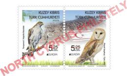 "2019 TURKISH CYPRUS ZYPERN CHYPRE CIPRO "" Europa - Bird - Owl - Eagle "" MNH - 2019"
