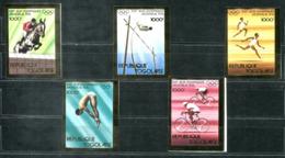 5148 - TOGO - Mi. 1138-1142 B ** - GOLD-RAND / OLYMPIA / RADSPORT / PFERD / HORSE / CYCLING / OLYMPICS - Togo (1960-...)