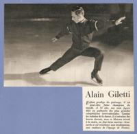 COUPURE De PRESSE 1955 - PATINAGE ARTISTIQUE ALAIN GILETTI à 14 ANS - JEUX OLYMPIQUES 1952 1956 1960 - Patinage Artistique