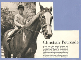 COUPURE De PRESSE 1955 - ACTEUR CHRISTIAN FOURCADE à 10 ANS - BING CROSBY HOLLYWOOD - CHEVAL HORSE - Other Formats