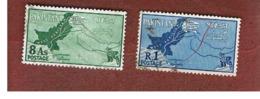 PAKISTAN  -  SG 110.111  -  1960  MAP   -  USED ° - Pakistan