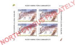 "2019 TURKISH CYPRUS ZYPERN CHYPRE CIPRO "" Europa - Bird - Owl - Eagle "" Souvenir Sheet MNH - 2019"