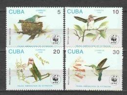 Cuba 1992 Mi 3589-3592 MNH WWF BIRDS - W.W.F.
