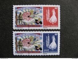 Nouvelle-Calédonie: TB  Paire N° 1275/1276a : Le Bleu Avec Faciale 110F Au Lieu De Sans Valeur, Neufs XX . - Unused Stamps