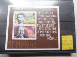 St Helena Churchill Bloc 2 ** - Sir Winston Churchill