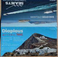 2 Billets De Bateau Embarquement De Folégandros Pour Sifnos Grèce Dans Leur Pochette Illustrée - Europa