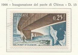 PIA  - FRANCIA  -1966 : Inaugurazione Del Ponte Di Orélon  - (Yv  1489) - Ponti