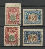 Estland Estonia 1920 Michel 21 - 22 & 25 - 26 O - Estland