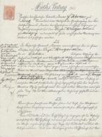 ALSACE-LORRAINE N°16 Oblitération Rectangle Pointillé 37 - Vertrag 18 Décembre 1894 - Metz - Steuermarken