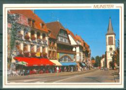 68 - MUNSTER - RUE DE LA REPUBLIQUE  - COMERCES - CAFES ET TERRASSE - Munster