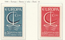 PIA  - FRANCIA  - 1966  : Euroopa -  (Yv  1490-91) - 1966