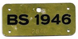 Velonummer Basel Stadt BS 46 - Number Plates