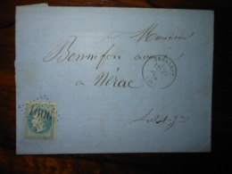 Lettre GC 1606 Gabarret Landes Avec Correspondance - Poststempel (Briefe)