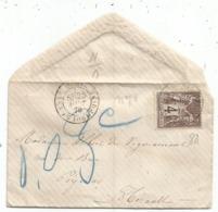 SAGE 4C BRUN SEUL MIGNONNETTE SMALL COVER PARIS AVENUE JOSEPHINE 25 AOUT 1878 POUR HERAULT TAXE 0.03C RARE - 1876-1898 Sage (Type II)
