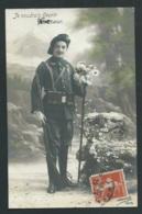 "Chasseur Alpin , ""je Voudrai Fleuri Ton Coeur "" Ecrite Au Dos En 1913- Vac39 - Patrióticos"