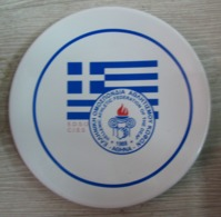 AC - GREEK - HELLENIC ATHLETIC FEDERATION OF THE DEAF E.D.S.O C.I.S.S. PORCELAIN PLATE - Athletics