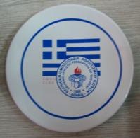 AC - GREEK - HELLENIC ATHLETIC FEDERATION OF THE DEAF E.D.S.O C.I.S.S. PORCELAIN PLATE - Atletiek