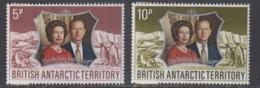 British Antarctic Territory (BAT) 1972 Silver Wedding 2v ** Mnh (44953A) - Brits Antarctisch Territorium  (BAT)
