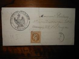 Lettre GC 1601 Fruges Pas De Calais Avec Correspondance - 1849-1876: Période Classique