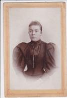 CROATIA  --  AGRAM  --  1894  --   CABINET  PHOTO,  CDV -  LADY  -- 18,5 Cm  X  11 Cm - Fotos