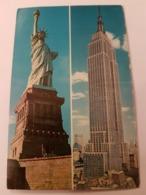CPA NEW YORK EMPIRE STATE BUILDING STATUE DE LA LIBERTE - Manhattan