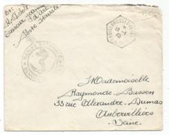 LETTRE FM C. HEX PERLE CROISEUR ECOLE JEANNE D'ARC 18.1.1940 - Marcofilia (sobres)