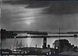 LOMBARDIA - VIADANA - TRAMONTO SUL PO - VIAGGIATA 1954 DA VIADANA - Italia