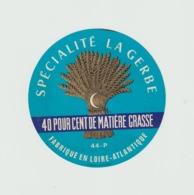Etiquette Fromage Camembert :  Loire Atlantique , épi De  Blé  Bleu - Formaggio