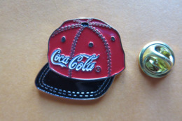 Pin's,Coca-Cola,baseball Cap,stamped Soft Enamel Without Epoxy Dome - Coca-Cola