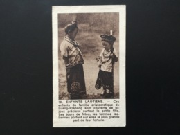 Image Ancienne Photo D'enfants Laotiens Publicité Produits Pour Tissus - Documentos Antiguos