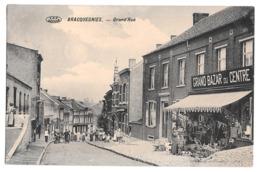 Bracquegnies Grand Rue Grand Bazar Du Centre Bon état 1913 - La Louviere