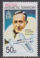 """British Antarctic Territory  1980 50p Value  Perf. 12 Lincoln Ellsworth """"Polar Star"""" ** Mnh (44956A) - Brits Antarctisch Territorium  (BAT)"""