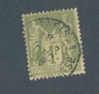 FRANCE - N°YT 82 OBLITERE CAD PARIS 1 PLACE DE LA BOURSE DU 07/12/1898 - COTE YT : 8€ - 1876-1898 Sage (Type II)