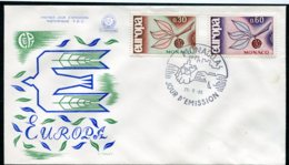 15038 MONACO  N°675/6 ° Europa 1965  FDC Du  25.9.65  TB - FDC