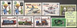 D - [825115]TB//**/Mnh-Zaïre 1980 - N° 1020/28, Surchargés, Avions, Trains, Transports - 1980-89: Neufs