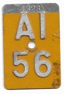 Velonummer Appenzell Innerrhoden AI 56 - Number Plates