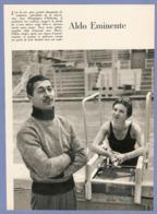 COUPURE De PRESSE 1955 - 18 X 25,5 Cm - NATATION NAGEUR ALDO EMINENTE FINALISTE 100 M NAGE LIBREJO HELSINKI 1952 - Swimming