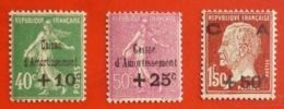 Caisse D'amortissement 3ème Série 253/255 1929 * - Francia
